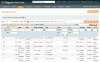 Magento screenshot - admin panel products list